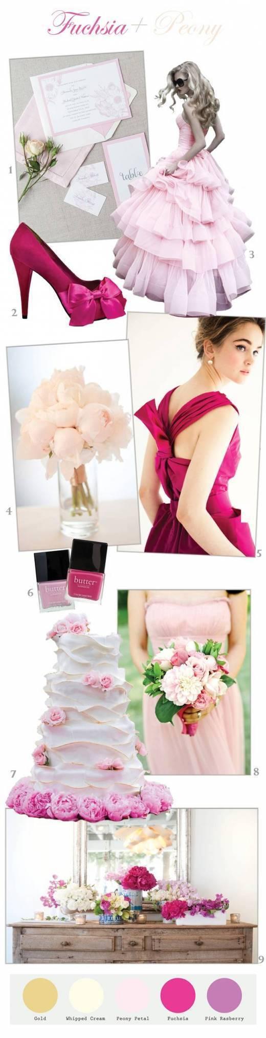 Fuchsia + Peony Pink Wedding Inspiration