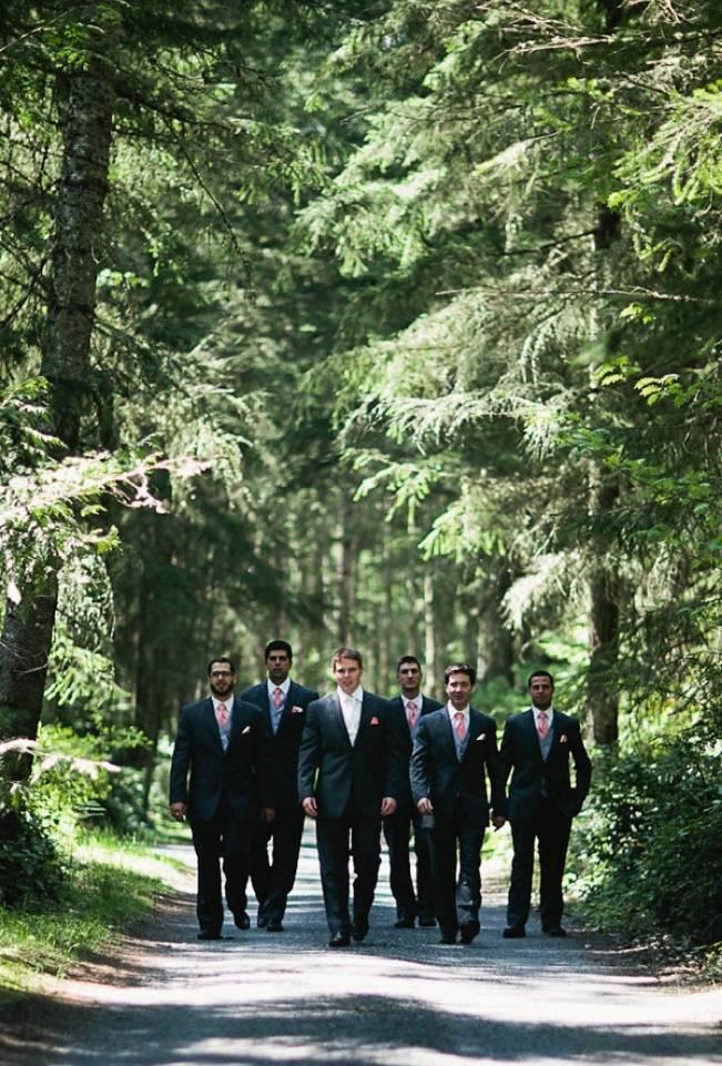 rustic groomsmen