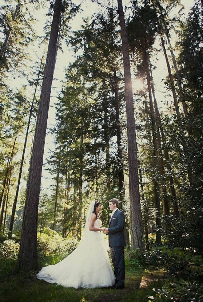 forest wedding washington state