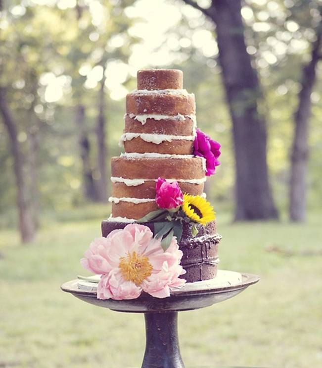 Dessert Au Naturel: Unfrosted Wedding Cakes