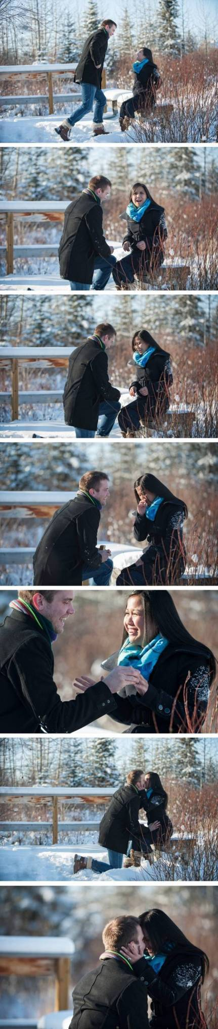 real marriage proposal photographed