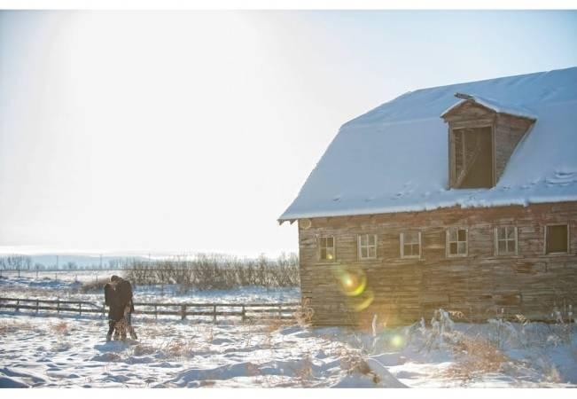 rustic barn engagement shoot