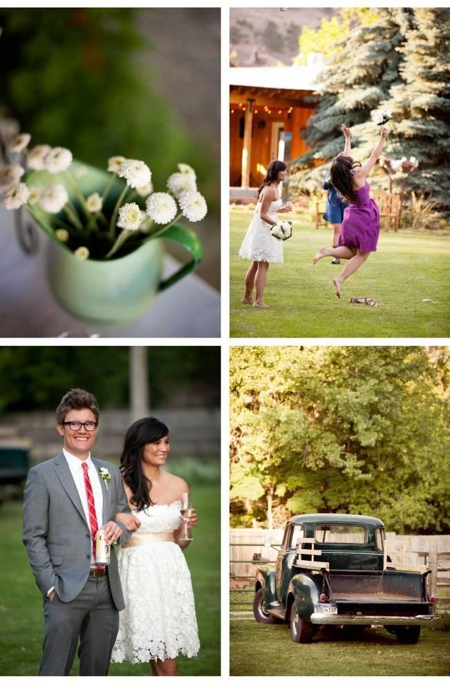 backyard colorado wedding