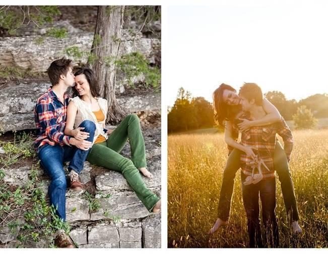 outdoorsy engagement photo shoot