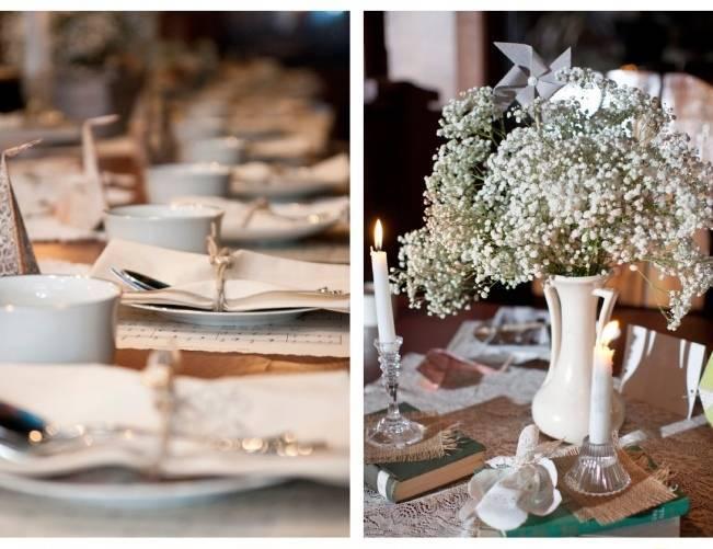 diy vintage wedding table
