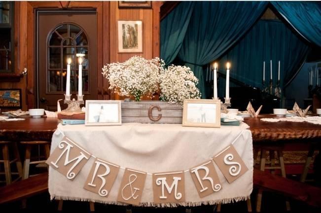 burlap wedding banner