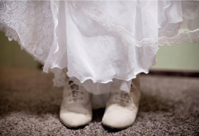 vintage wedding boots