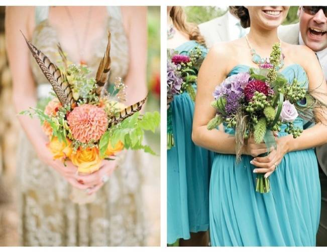 Feathered Flourish: Wedding Bouquets with Feathers
