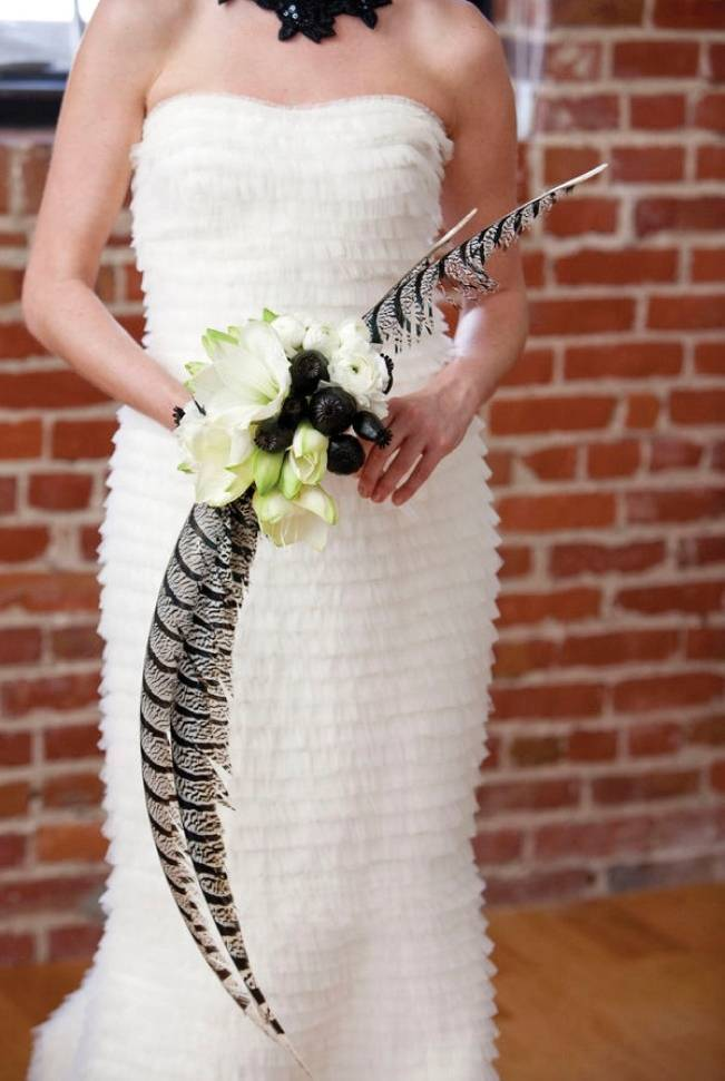 large feather bouquet