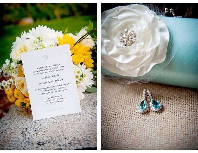 blue bridal clutch