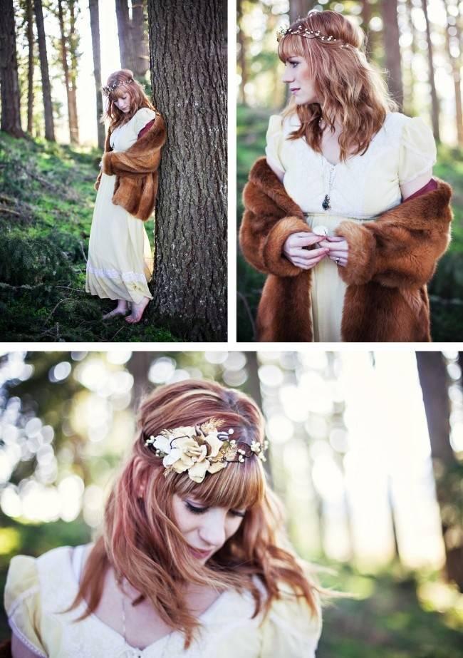 The Honey Comb headpiece woodland bride