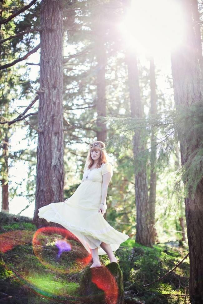 woodland wedding bridal