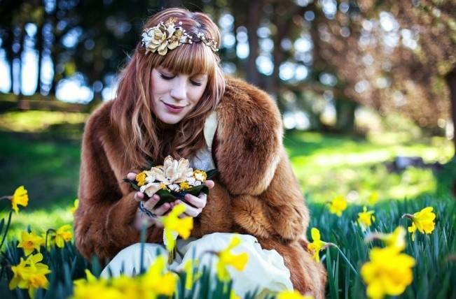 fur coat for brides