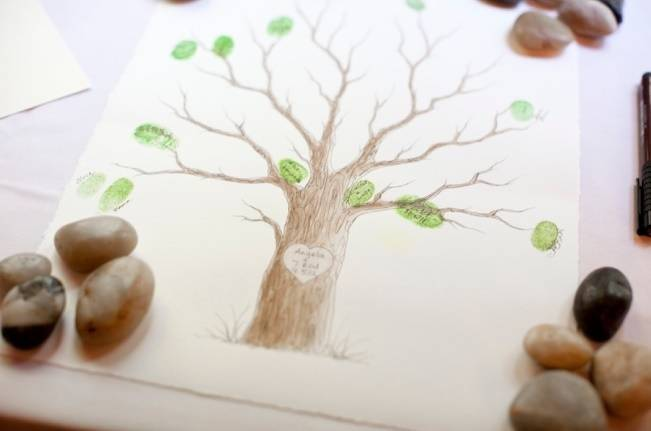tree thumbprint guestbook alternative