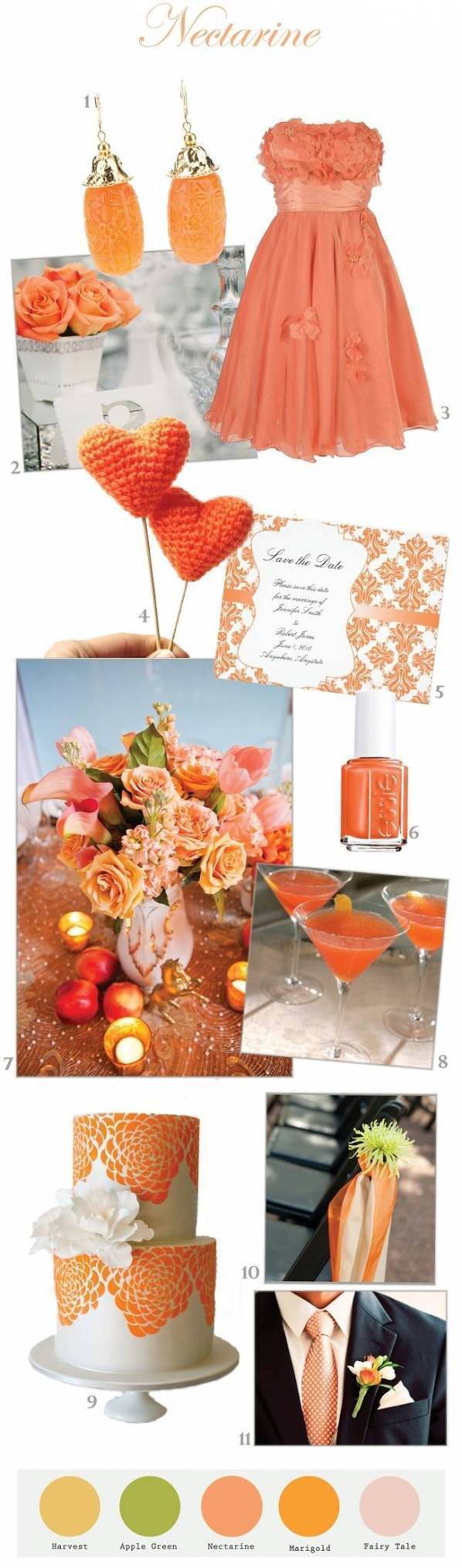 Nectarine Wedding Inspiration