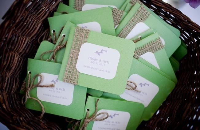 diy rustic green burlap wedding programs