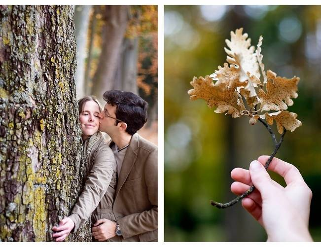 oak leaf fall engagement