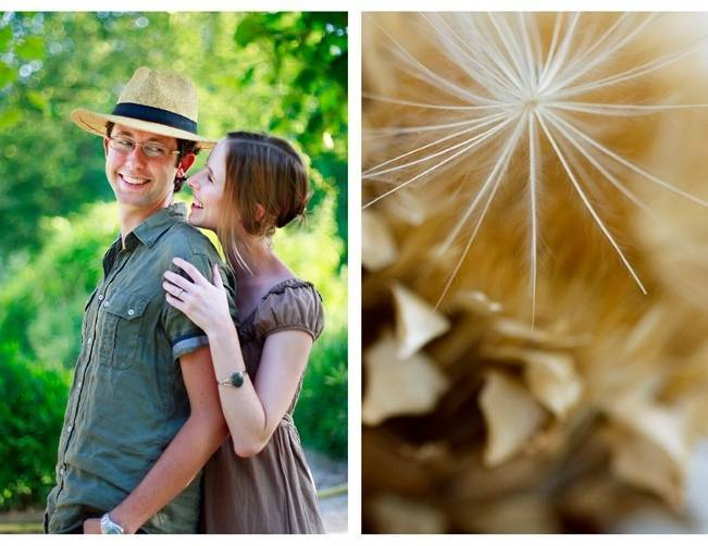 french garden engagement