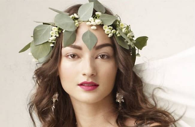 leaf flower crown