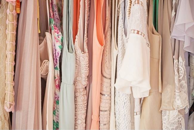 pink peach bridesmaid dresses