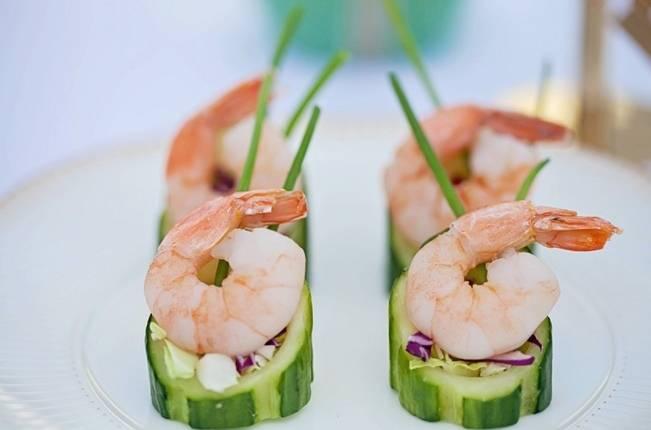 shrimp and cucumber horderves
