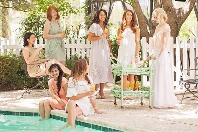 bridesmaids garden party