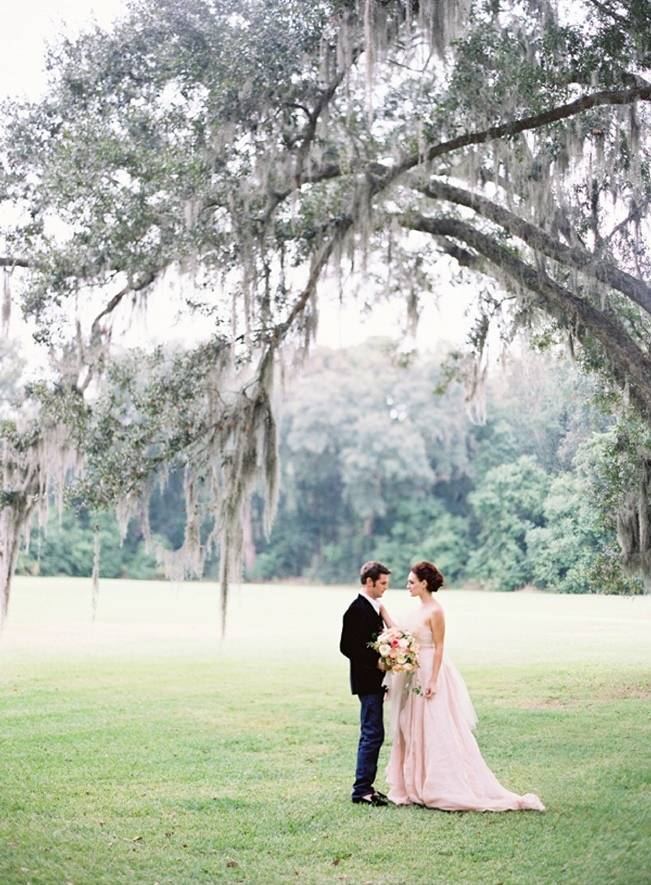wedding under a weeping willow tree
