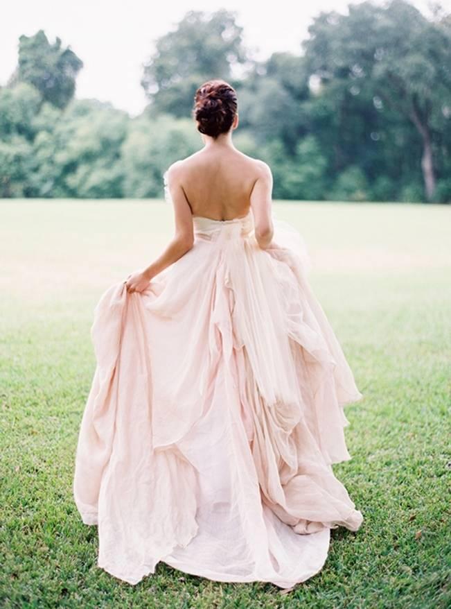 carol hannah blush wedding dress