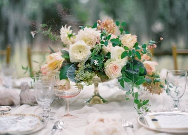 lush floral centerpiece by southern blooms pats floral design