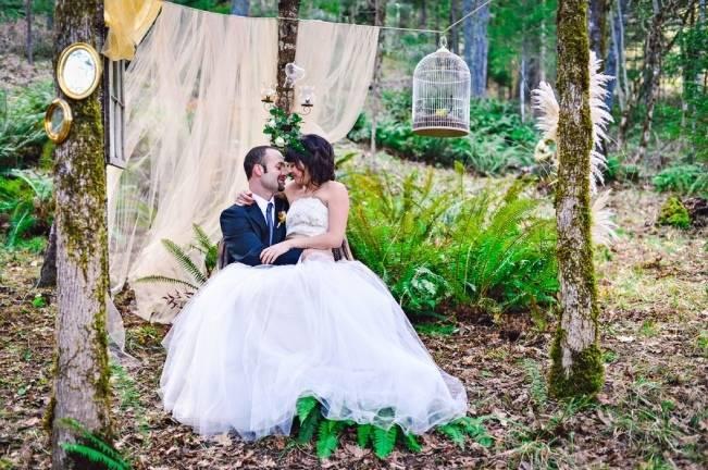 woodland wedding gown
