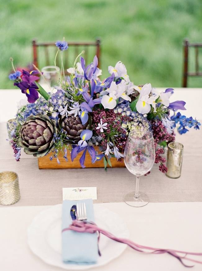 iris wedding centerpiece - jose villa