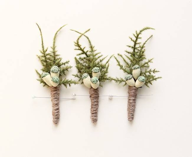 evergreen woodland rustic boutonniere