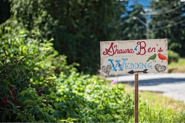 country chic rustic wedding sign