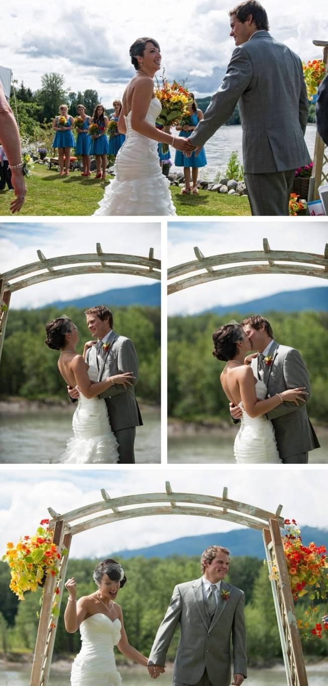 outdoor river wedding ceremony