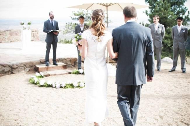 mountain amphitheater wedding ceremony
