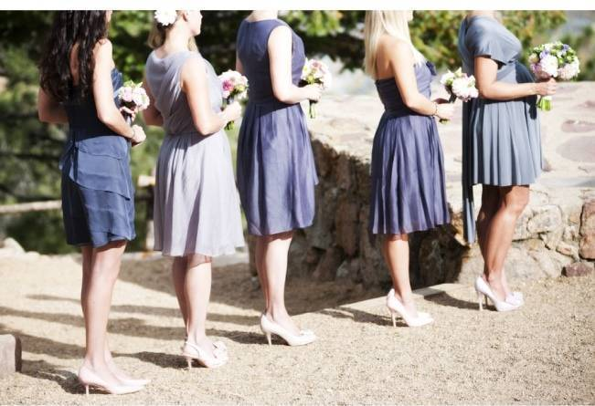ombre purple bridesmaid dresses
