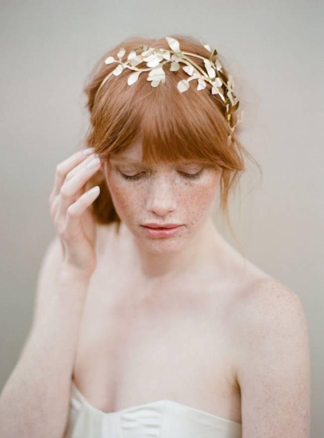 woodland fern gilded headband