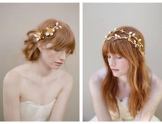 gold double hair vine