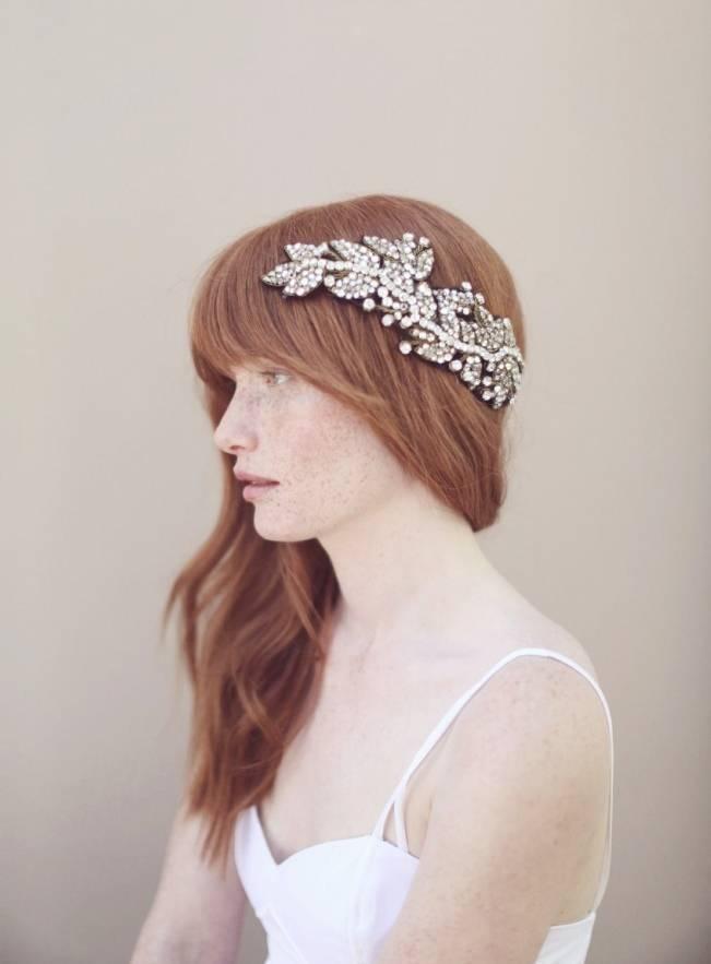 antique crystal bridal headwrap