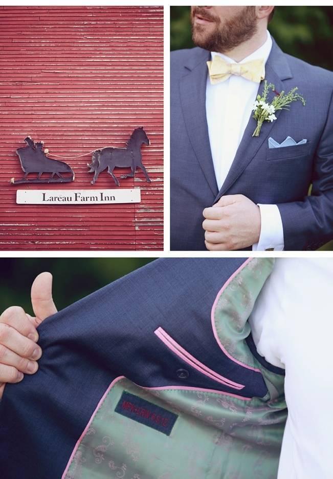 custom lined groom's suit