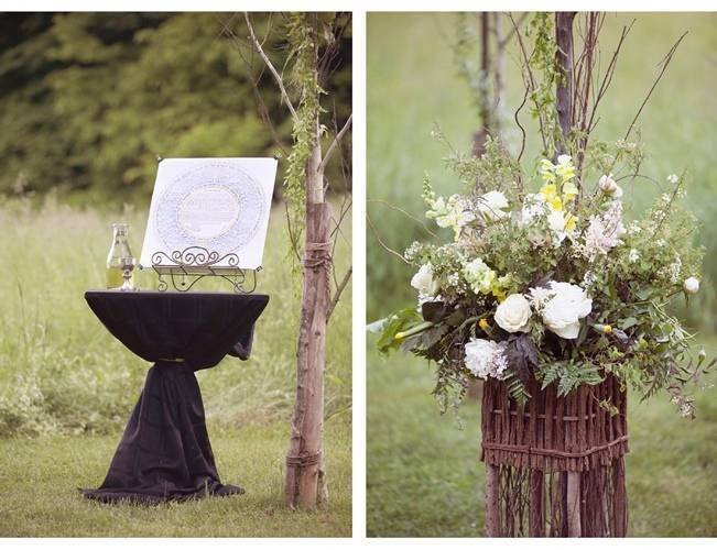 rustic outdoor wedding floral