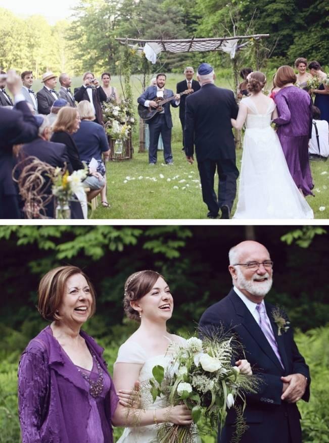 outdoor vermont wedding ceremony