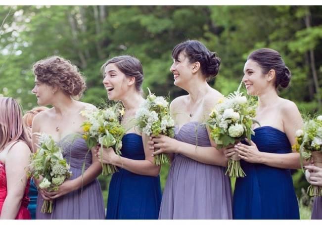 blue and lavender bridesmaid dresses