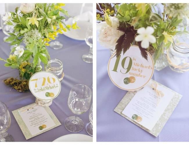 creative wedding table numbers