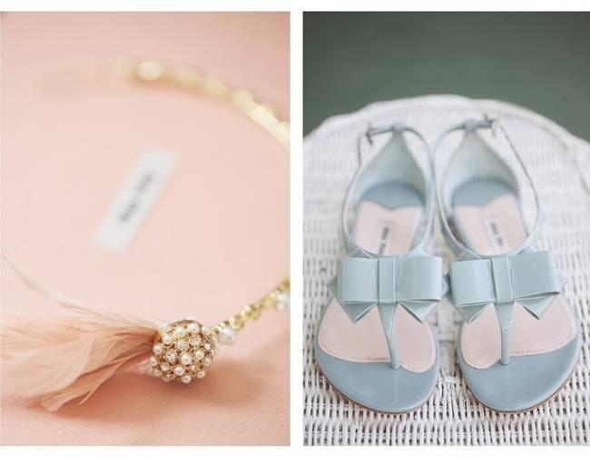 Miu Miu blue wedding shoes