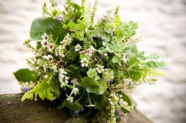 woodland waxflower bouquet