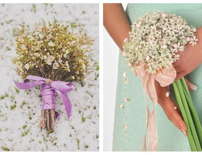 waxflower bridesmaid bouquet