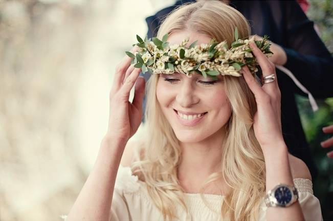 waxflower hair crown