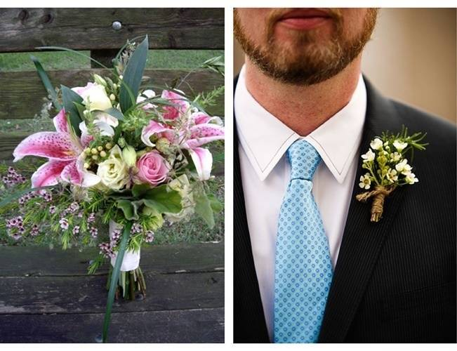 waxflower boutonniere