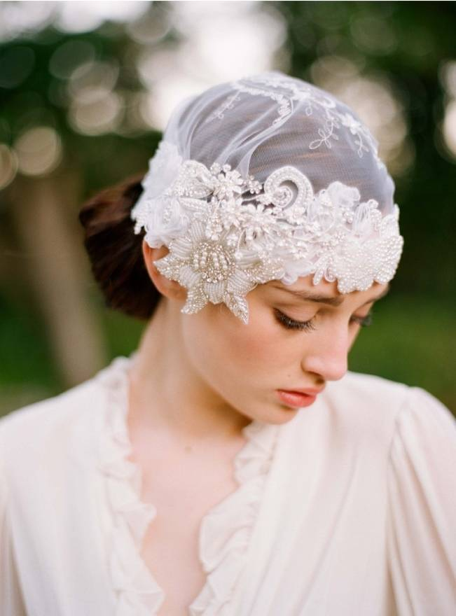 Twigs & Honey bridal cap